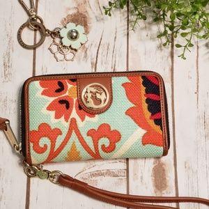 Waving Girl Wristlet Wallet by Spartina 449